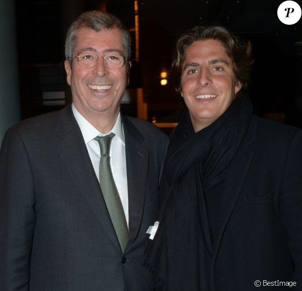 Patrick Balkany et son fils Alexandre Balkany lors de l'avant-première du film Vive la France à l'UGC Ciné Cité Bercy à Paris, le 19 février 2013.