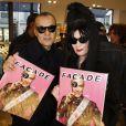 Marco de Rivera et Diane Pernet lors de la soirée de lancement en exclusivité du magazine Façade 16, le numéro des 40 ans chez colette, en présence des créateurs et de tous les artistes et personnalités de Façade 16 à Paris, France, le 23 février 2017. © Marc Ausset-Lacroix/Bestimage