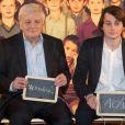Exclusif - Jacques Perrin et son fils Maxence à la générale de la comédie musicale Les Choristes au théâtre des Folies Bergère à Paris, France, le 2 mars 2017.