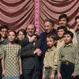 """Exclusif - Exclusif. Michel Drucker, Chirsitophe Barratier. à la générale des """"Choristes"""" lle spectacle musical au Folies Bergères à Paris le 2 mars 2017."""