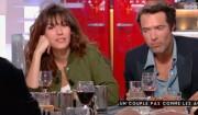 """Doria Tillier et Nicolas Bedos invités de """"C à vous sur France 5"""", le 2 mars 2017."""