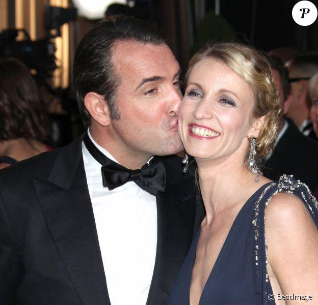 Alexandra Lamy et Jean Dujardin - Cérémonie des Oscars 2012