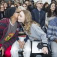 """Pharrell Williams, Cara Delevingne et Lily-Rose Depp- Défilé de mode prêt-à-porter automne-hiver 2017/2018 """"Chanel"""" au Grand Palais à Paris le 7 mars 2017. © Olivier Borde/ Bestimage"""