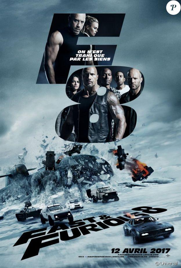 Fast & Furious 8, l'affiche. En salles le 12 avril 2017.