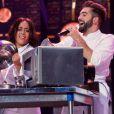 """Amir, Amle Bent et Kendji Girec au concert des Enfoirés 2017, """"Mission Enfoirés"""", tourné en janvier au Zénith de Toulouse et diffusé le vendredi 3 mars sur TF1."""