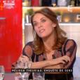 """Mélissa Theuriau sur le plateau de l'émission """"C à vous"""" le 15 mars 2017"""