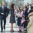 Le prince William et Kate Middleton sur le parvis des droits de l'homme au Trocadéro à Paris le 18 mars 2017.