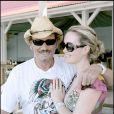 Johnny et Laeticia Hallyday passent leurs vacances à Saint-Barthélémy.