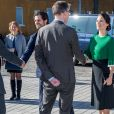 La princesse Sofia et le prince Carl Philip de Suède ont inauguré ensemble un centre de loisirs pour les jeunes défavorisés à Husby, dans la banlieue de Stockholm, le 17 mars 2017.
