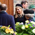La reine Maxima des Pays-Bas - Obsèques du prince Richard de Sayn-Wittgenstein-Berleburg à Bad Berleburg en Allemagne le 21 mars 2017. 21/03/2017 - Bad Berlebourg