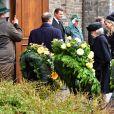 La princesse Beatrix, la reine Maxima et le roi Willem Alexander des Pays-Bas - Obsèques du prince Richard de Sayn-Wittgenstein-Berleburg à Bad Berleburg en Allemagne le 21 mars 2017. 21/03/2017 - Bad Berlebourg
