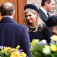 La reine Maxima des Pays-bas et la princesse Beatrix - Obsèques du prince Richard de Sayn-Wittgenstein-Berleburg à Bad Berleburg en Allemagne le 21 mars 2017. 21/03/2017 - Bad Berlebourg