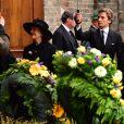 La reine Silvia de Suède et la princesse Madeleine - Obsèques du prince Richard de Sayn-Wittgenstein-Berleburg à Bad Berleburg en Allemagne le 21 mars 2017. 21/03/2017 - Bad Berlebourg