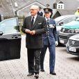 Le prince Henrik de Danemark - Obsèques du prince Richard de Sayn-Wittgenstein-Berleburg à Bad Berleburg en Allemagne le 21 mars 2017. 21/03/2017 - Bad Berlebourg
