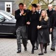 La princesse Alexandra de Sayn-Wittgenstein-Berlebourg et sa fille Ingrid - Obsèques du prince Richard de Sayn-Wittgenstein-Berleburg à Bad Berleburg en Allemagne le 21 mars 2017. 21/03/2017 - Bad Berlebourg