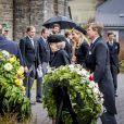 Le roi Willem Alexander, la reine Maxima des Pays-Bas et la princesse Beatrix - Obsèques du prince Richard de Sayn-Wittgenstein-Berleburg à Bad Berleburg en Allemagne le 21 mars 2017. 21/03/2017 - Bad Berlebourg