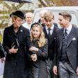 La princesse Alexandra de Sayn-Wittgenstein-Berlebourg, sa fille Ingrid, son fils le comte Richard - Obsèques du prince Richard de Sayn-Wittgenstein-Berleburg à Bad Berleburg en Allemagne le 21 mars 2017. 21/03/2017 - Bad Berlebourg