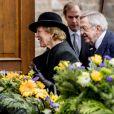 Le roi Constantin II de Grèce et sa femme Anne-Marie - Obsèques du prince Richard de Sayn-Wittgenstein-Berleburg à Bad Berleburg en Allemagne le 21 mars 2017. 21/03/2017 - Bad Berlebourg