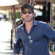 Luke Perry va déjeuner avec un ami au restaurant Il Pastaio à Beverly Hills, le 11 février 2015.