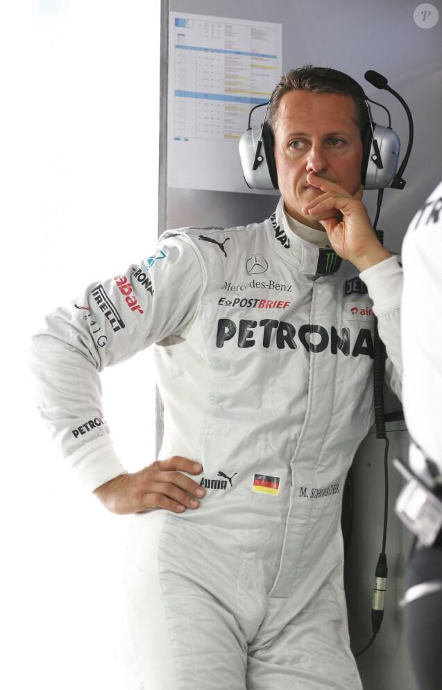 Michael Schumacher lors du grand prix de Formule 1 a New Delhi en Inde le 26 octobre 2012.