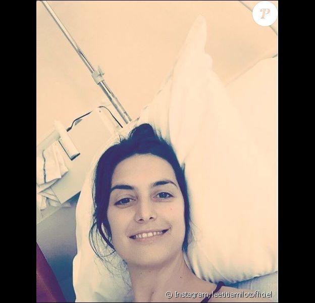 Laetitia Milot à l'hôpital, lundi 20 mars 2017, Instagram