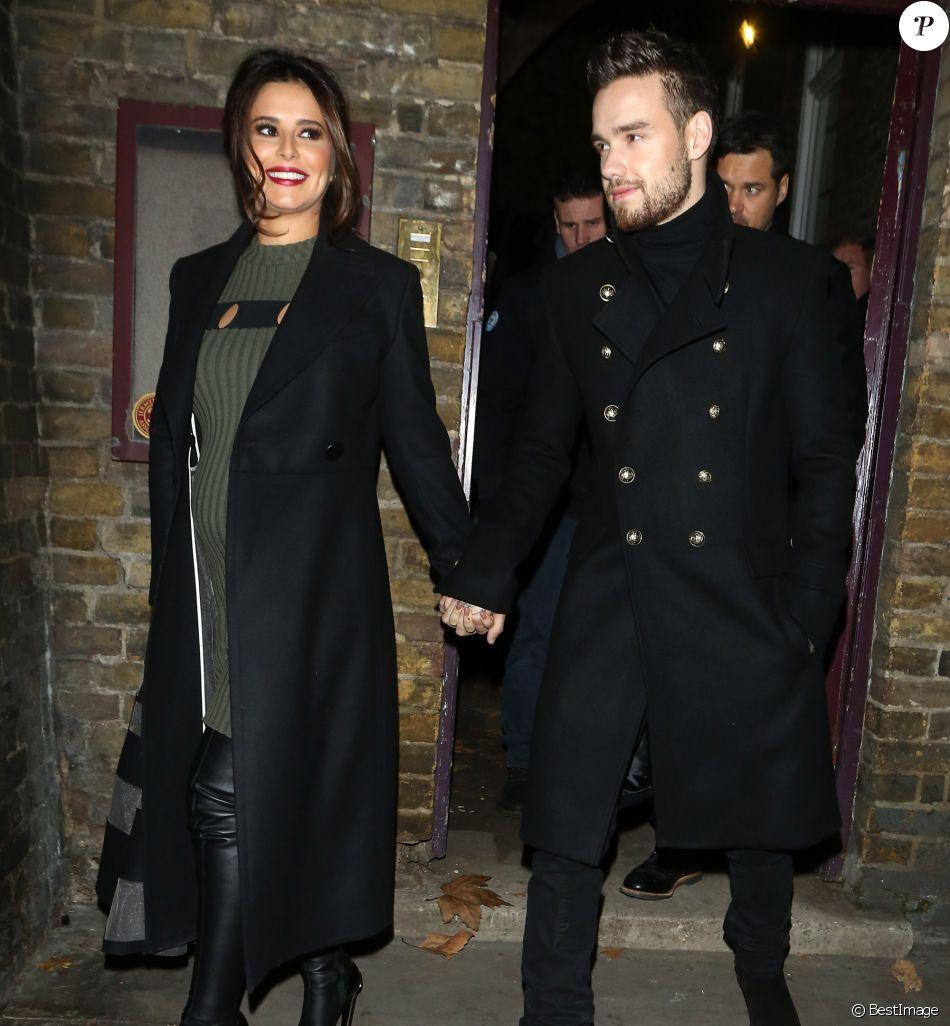 Cheryl Cole et son compagnon Liam Payne à la sortie de la chorale de Noël de l'église de St James à Londres le 29 novembre 2016