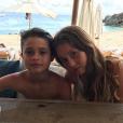 """""""David Charvet en vacances aux Antilles avec ses enfants - Photo publiée sur Instagram le 29 mars 2017"""""""