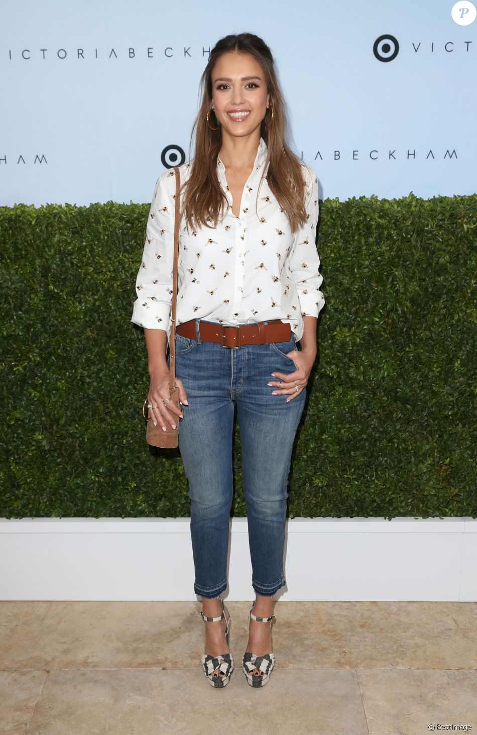 Jessica Alba - Garden party de lancement de la collection Victoria Beckham x Target à Los Angeles le 1er avril 2017. © AdMedia via ZUMA Wire / Bestimage