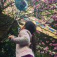 Valérie Bègue partage une photo avec la première photo de sa fille Jazz sur Instagram. Mars 2017.