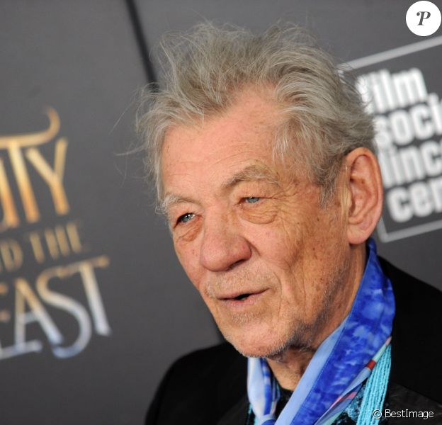 "Ian McKellen à la projection de ""La belle et la bête"" au Lincoln Center à New York le 13 mars 2017."
