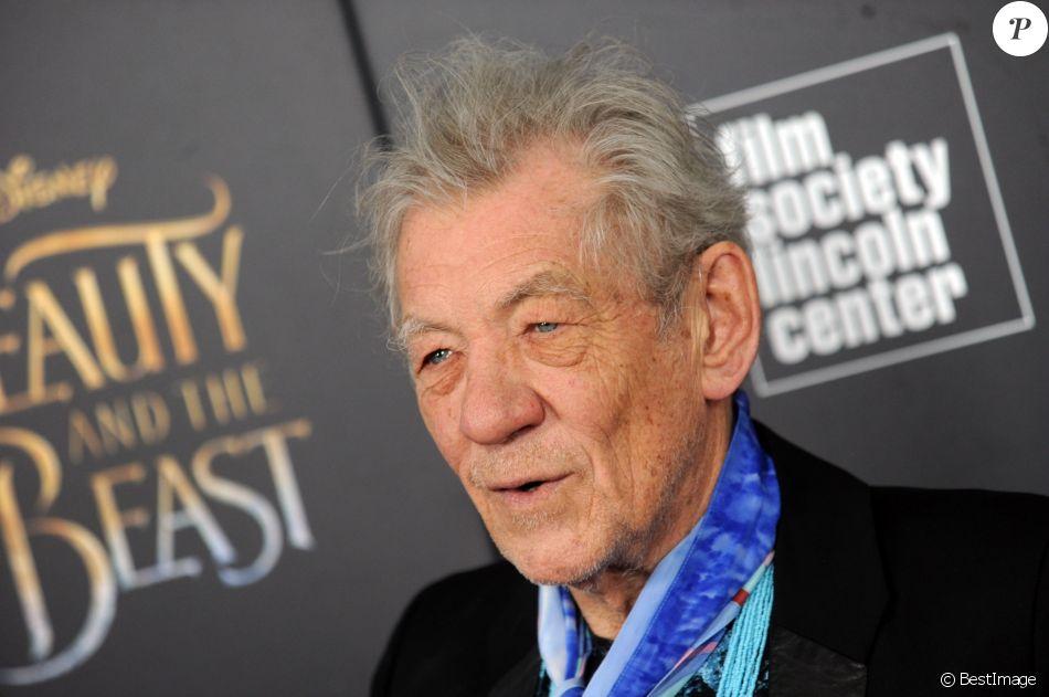 """Ian McKellen à la projection de """"La belle et la bête"""" au Lincoln Center à New York le 13 mars 2017."""