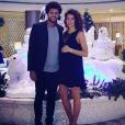 """""""Jo-Wilfried Tsonga fête Noël avec sa compagne,  Noura El Swekh, enceinte de leur premier enfant. Photo postée sur Instagram en décembre 2016."""""""