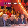 """Benjamin Castaldi a tenu des propos crus sur sa collègue Agathe Auproux. Emission """"Touche pas à mon poste"""" sur C8. Le 5 avril 2017."""
