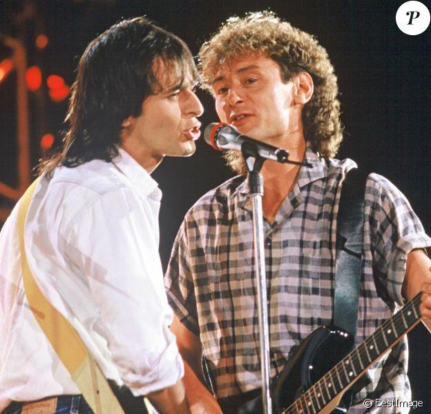 Jean-Jacques Goldman et Michael Jones en 1987.