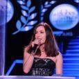 Exclusif - Olivia Ruiz - Intérieur - 10ème cérémonie des Globes de Cristal au Lido à Paris, le 13 avril 2015.
