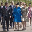 Peter Phillips, sa femme Autumn Phillips, la princesse Beatrice d'York et sa sœur la princesse Eugénie d'York accompagnés de Catherine Kate Middleton, la duchesse de Cambridge et de son mari le prince William, duc de Cambridge - La famille royale britannique assiste à la messe de Pâques à la chapelle Saint-Georges de Windsor, le 16 avril 2017
