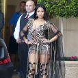 "Nicki Minaj sur le tournage du clip de ""No Frauds"" à l'hôtel Montage Beverly Hills. Beverly Hills, le 3 avril 2017."