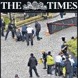 La une du Sunday Times au lendemain de l'attaque terroriste du Parlement de Westminster. Londres, le 23 mars 2017.