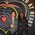 """Julien Landais et Karidja Touré- Lancement de la collection """"Child at Heart"""" par Naomi Campbell et Diesel à Paris le 20 avril 2017. © Vereen/Bestimage"""