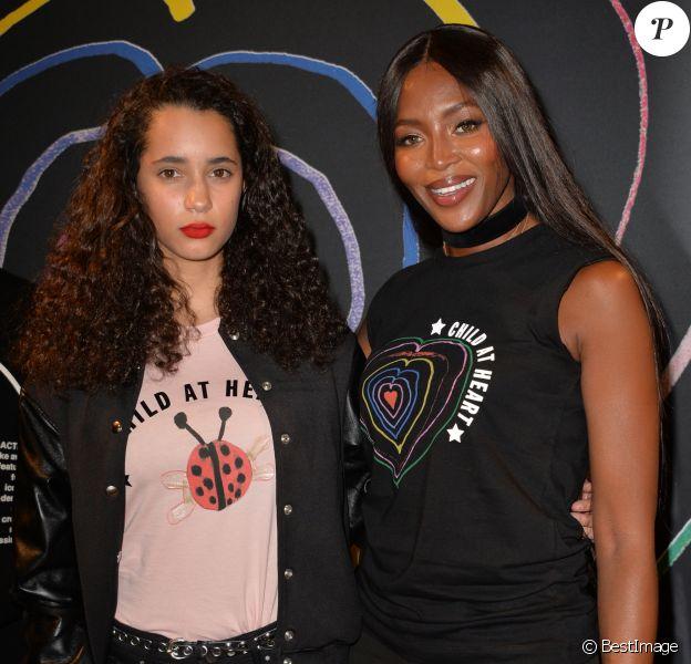 """Naomi Campbell et Iman Pérez- Lancement de la collection """"Child at Heart"""" par Naomi Campbell et Diesel à Paris le 20 avril 2017. © Vereen/Bestimage"""
