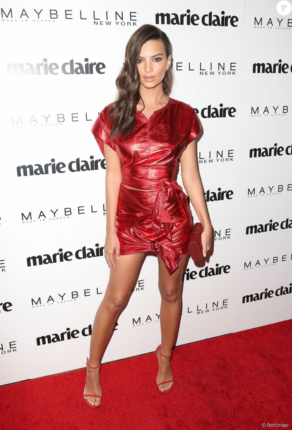 "Emily Ratajkowski assiste à la soirée ""Marie Claire's Fresh Faces"" au Doheny Room à West Hollywood. Los Angeles, le 22 avril 2017. © AdMedia via Zuma Press/Bestimage"
