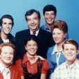 Donny Most, Henry Winkler, Erin Moran, Tom Bosley, Anson Williams, Marion Ross, Ron Howard, les acteurs des ''Happy Days'' - 1974-1984. © Paramount TV via ZUMA Press/Bestimage