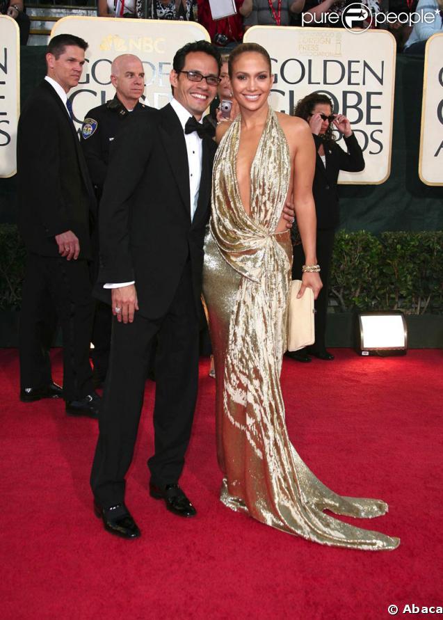 Jennifer Lopez et son mari Marc Anthony (sans bague !)