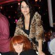 Sonia Rykiel et sa fille Natalie au dîner de gala de la mode contre le sida à Paris le 28 janvier 2010
