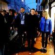 Emmanuel Macron et sa femme Brigitte (Trogneux) sont allés dîner à la Brasserie des Sports au Touquet, la veille de l'élection présidentielle. Le 6 mai 2017 © Dominique Jacovides - Sébastien Valiela / Bestimage