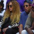 Beyonce et Jay-Z au Staples Center de Los Angeles, le 30 avril 2017