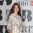 Lana Del Rey à la Cérémonie des BRIT Awards 2016 à l'O2 Arena à Londres, le 24 février 2016.