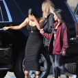 Kourtney, Kim et Khloé Kardashian à Los Angeles, le 11 mai 2017.