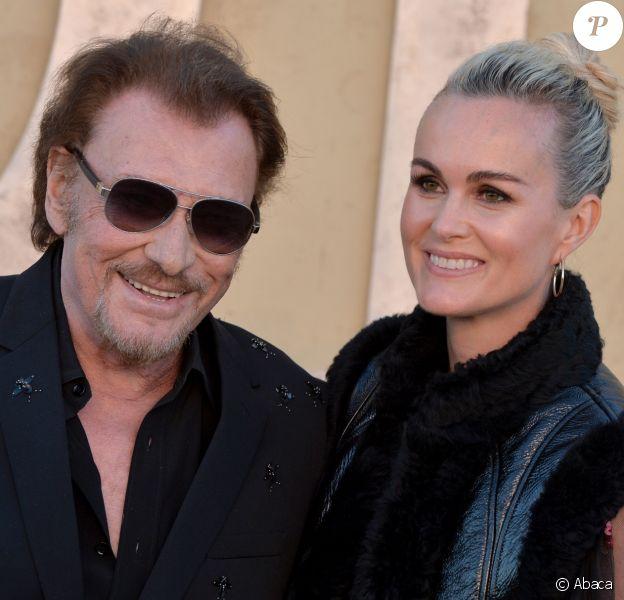 Johnny et Laeticia Hallyday assistent au défilé Christian Dior (collection croisière 2018) à Calabasas. Le 11 mai 2017.