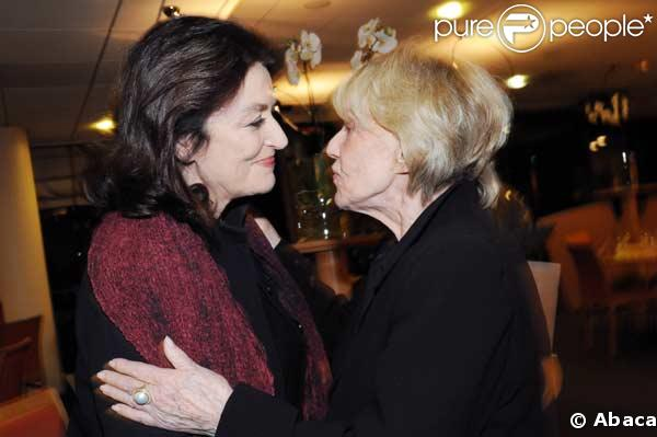 Jeanne Moreau et Anouk Aimée